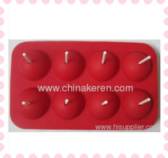 DIY silicone 3D Lollipops red mould