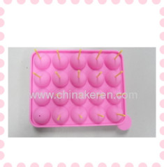 2013 fashion pink Silicone Lollipops mould