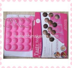 Fashion DIY pink silicone 3D Lollipops