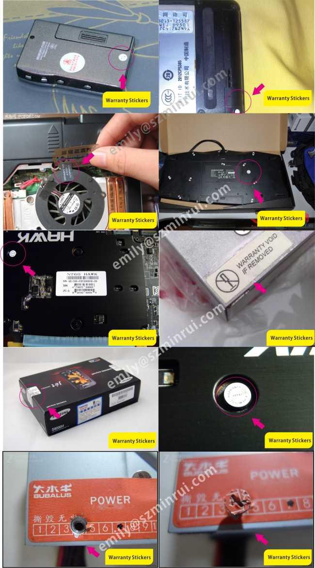 Warranty Screw Cover Stickers,Screw Cap Warranty Stickers,Eggshell Paper Screw Labels for Do Not Open Seal Labels