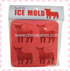 TPR red animal Ice Moulds