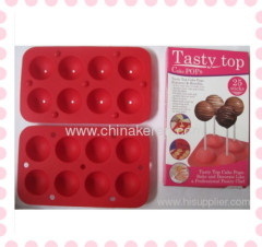 2013 fashion DIY silicone red 3D Lollipops