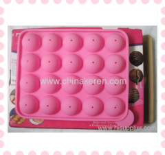 Silicon pink sugar-loaf Mould