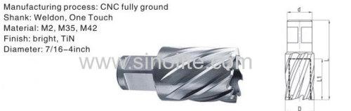 Weldon shank HSS Hole Annular Cutter