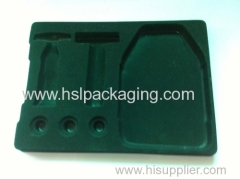flocking packing tray PS flocking packing for light