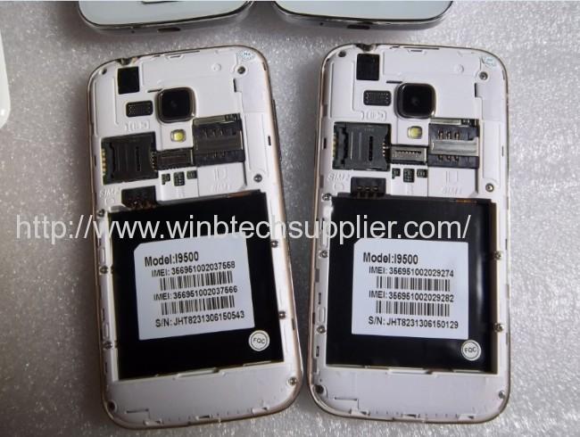 mini S4 i9500 9500 phone S4 Android 4.0 Smart Phone 4.0capacitive screen 1.0Ghz WIFI dual sim mobile phone