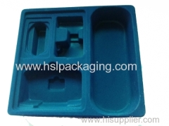 different shape vacuum formed flocking tray