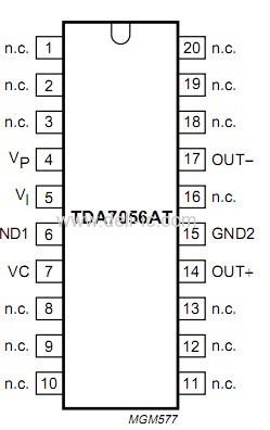 tda7056at - 3 w mono