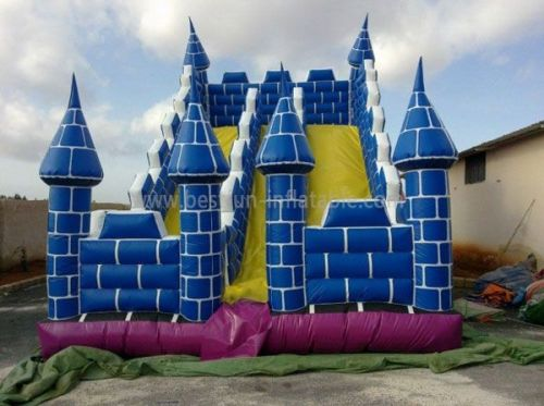 Hot Blue Inflatable Tower Slide