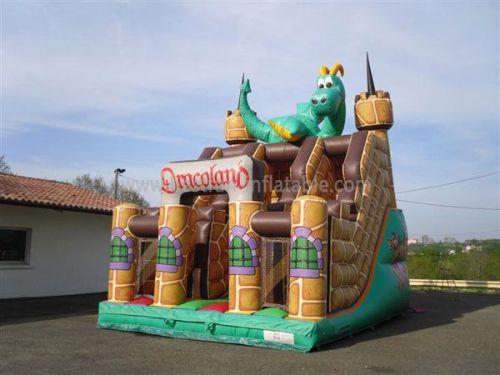 Funny Dinosaur Castle Inflatable Kids Slides