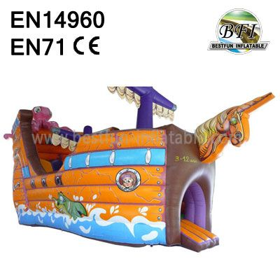 Children Pirate Inflatable Slide For Sale