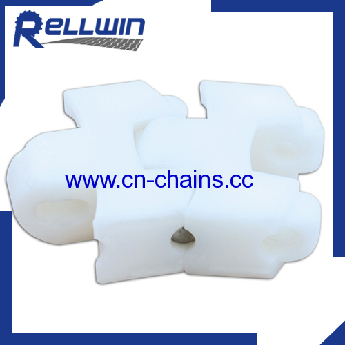 Radius Plastic conveyor chains with SS rod chain F54
