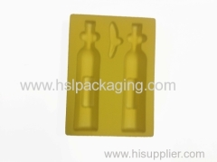 high-quality box with flocking tray packaging