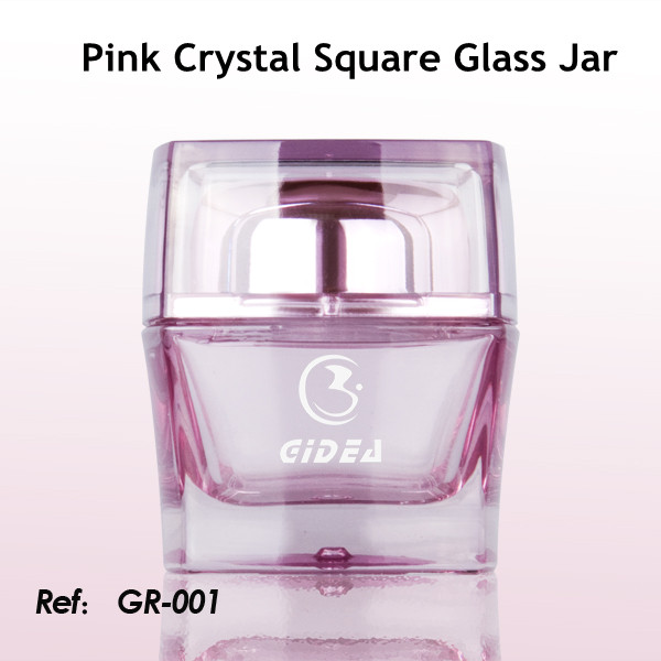 30ml 50ml pink glass jars for sale