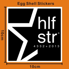 custom egg shell stickers
