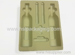high quality wine bottle PS flock tray wholesale