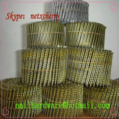 Wire weld Pallet coil nails with screw/ring/smooth shank