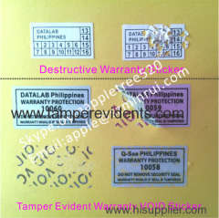 Warranty Invalid If Seal Tampered Stickers