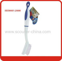 Blue and white Multifunctional pretty handle plastic cleaning brush