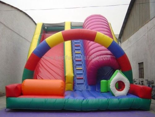 Giant Dual Inflatable Tunnel Slide