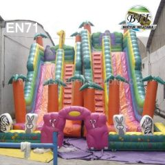 Big Inflatable Double Play Slides