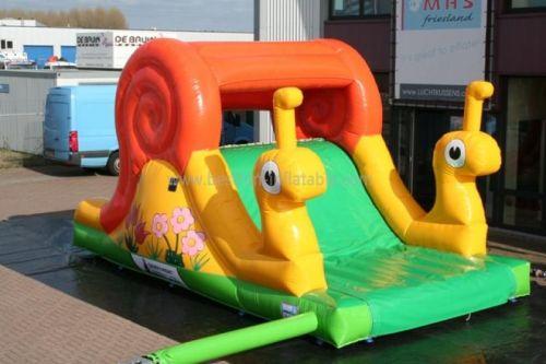 Yellow Indoor Inflatable Snail Slide