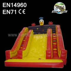 Double Ladders Commerical Inflatable Duck Slide