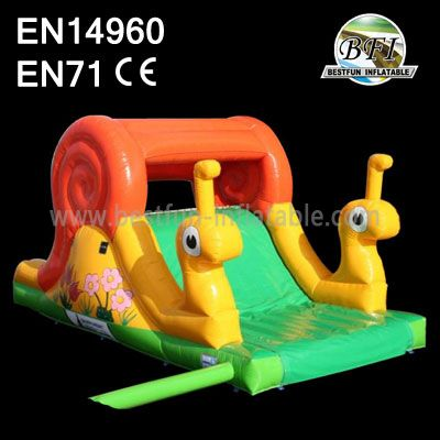 Yellow Indoor Inflatable Snail Slide manufacturers and ...