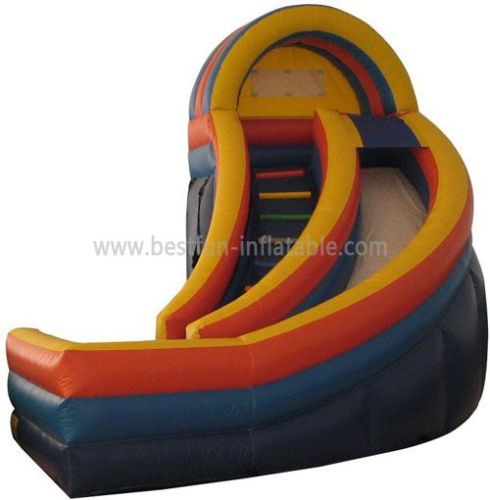 Big U Turn Inflatable Water Slide