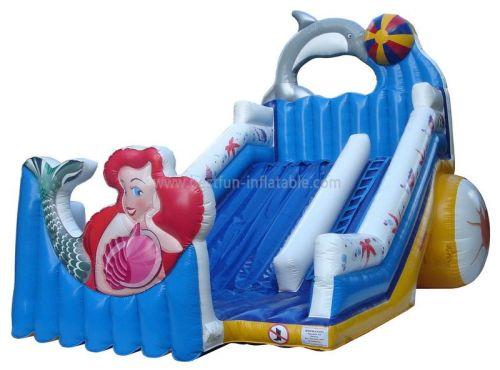 Blue Inflatable Mermaid Slide For Sale