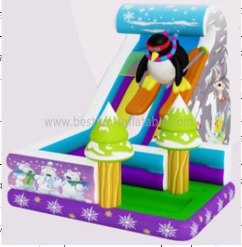 Kids U Turn Inflatable Penguin Slide