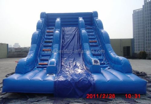 Blue Inflatable Slide Commercial Grade