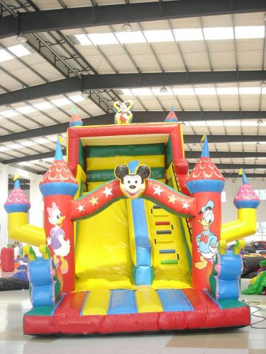 Inflatable Mickey Mouse Slides For Kids