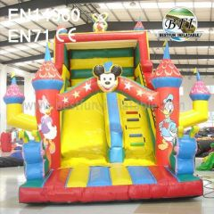 Kids Outdoor Inflatable Mickey Castle Slide