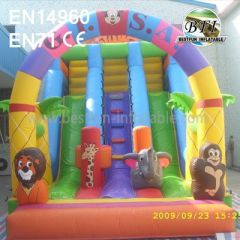 Inflatable Jungle Animal Slides For Toddler