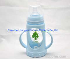 High Quality Glass Baby Feeding Milk Bottle With Handle