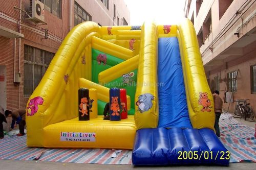 Yellow Children Inflatable Slide