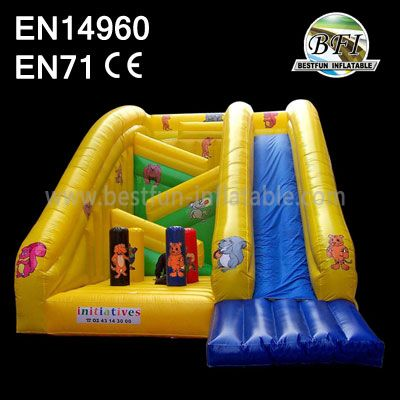 Attractive Inflatable Obstacle Slide