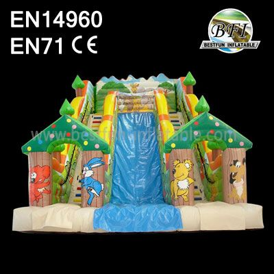 Inflatable Forest House Slides