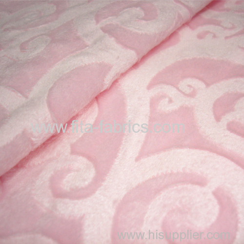 Carved ultra-soft short pile fabric
