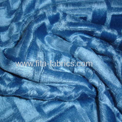 100%polyester over soft pile fabric