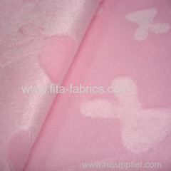 Clip cord fleece fabric