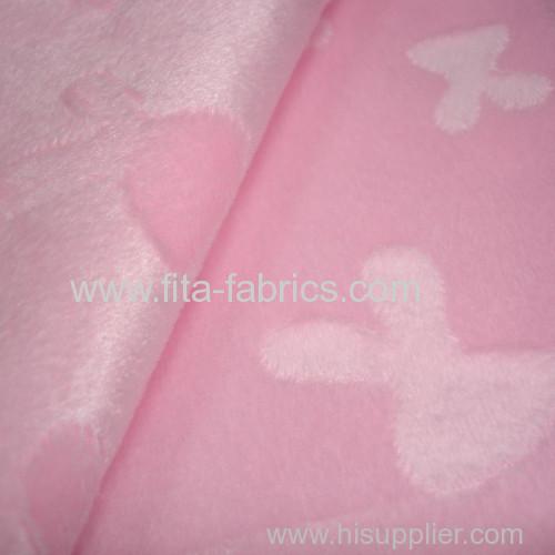 Clip cord fleece fabric