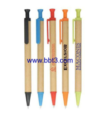 Paper eco promotional ballpoint pen with plastic accessories
