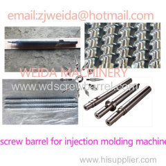 bimetallic screw barrel for haitian injection molding machine