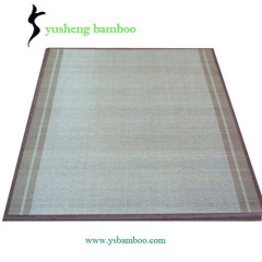 weave pattern bamboo carpet