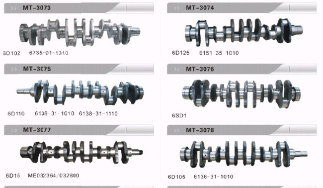 PC200-6 6735-01-1310 CRANKSHAFT FOR EXCAVATOR