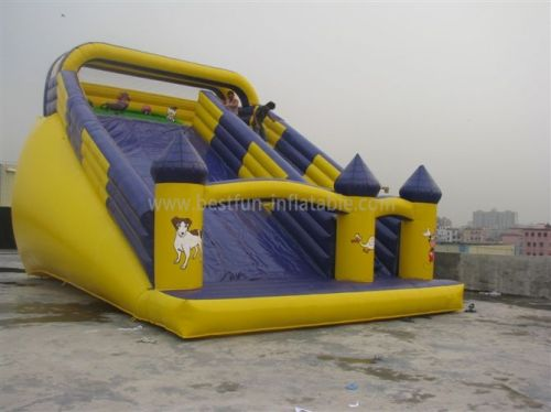 Yellow Inflatable Water Slide Bouncer