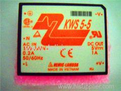 KWS5-5 - Single output 5W ~ 15W AC-DC on-board type power supply - DENSEI-LAMBDA