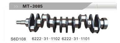 S6D108 622-31-1102 6222-31-1101 CRANKSHAFT FOR EXCAVATOR
